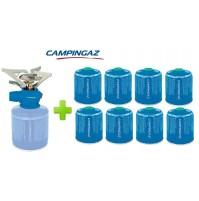 FORNELLO FORNELLINO GAS TWISTER PLUS 2900 W CAMPINGAZ + 8 PEZZI CARTUCCIA CV470