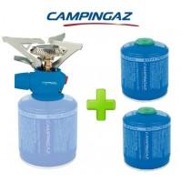 FORNELLO FORNELLINO GAS TWISTER PLUS PZ CAMPINGAZ + 2 PEZZI CARTUCCIA GAS CV300