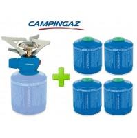 FORNELLO FORNELLINO GAS TWISTER PLUS PZ CAMPINGAZ + 4 PEZZI CARTUCCIA GAS CV300