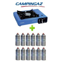 FORNELLO PORTATILE A GAS BISTRO CAMPINGAZ CON VALIGETTA +  12 CARTUCCIE A GAS