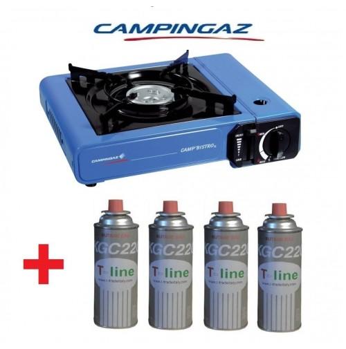 FORNELLO PORTATILE A GAS DA TAVOLO CAMP BISTRO CAMPINGAZ + 4 CARTUCCE A GAS