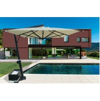 GIOVE ALLUMINIO ombrellone Acrilico 100% colorato/bianco