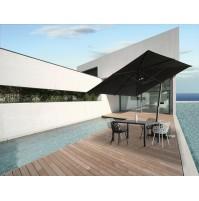 HORIZON ombrellone Acrilico 100% colorato/bianco