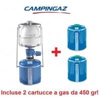 LAMPADA A GAS LUMOGAZ PLUS CAMPINGAZ 80 WATT + 2 CARTUCCE INCLUSE DA 450 GR
