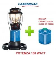 LAMPADA A GAS STELLIA CV PZ 160 WATT CAMPINGAZ + 1 CARTUCCIA A GAS CV300