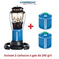 LAMPADA A GAS STELLIA CV PZ 160 WATT CAMPINGAZ + 2 CARTUCCE A GAS CV300