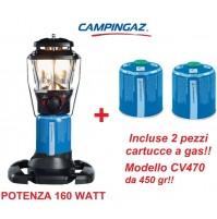 LAMPADA A GAS STELLIA CV PZ 160 WATT CAMPINGAZ + 2 CARTUCCE A GAS CV470