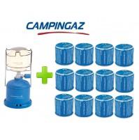 LAMPADA LANTERNA GAS CAMPING 206 L CAMPINGAZ POTENZA 80 WATT + 12 CARTUCCE C206