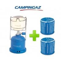 LAMPADA LANTERNA GAS CAMPING 206 L CAMPINGAZ POTENZA 80 WATT + 2 CARTUCCE C206