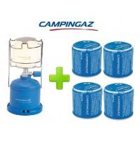 LAMPADA LANTERNA GAS CAMPING 206 L CAMPINGAZ POTENZA 80 WATT + 4 CARTUCCE C206
