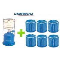 LAMPADA LANTERNA GAS CAMPING 206 L CAMPINGAZ POTENZA 80 WATT + 6 CARTUCCE C206