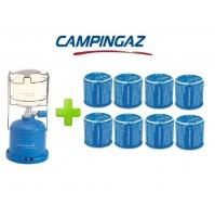 LAMPADA LANTERNA GAS CAMPING 206 L CAMPINGAZ POTENZA 80 WATT + 8 CARTUCCE C206