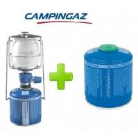 LAMPADA LANTERNA GAS LUMOGAZ PLUS CAMPINGAZ 80 WATT + 1 PEZZO CARTUCCIA CV300