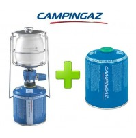 LAMPADA LANTERNA GAS LUMOGAZ PLUS CAMPINGAZ 80 WATT + 1 PEZZO CARTUCCIA CV470