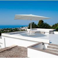LEONARDO ombrellone Acrilico 100% colorato/bianco