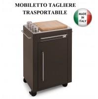 MOBILETTO TRASPORTABILE CON TAGLIERE ART 303 MODULABILE CON BARBECUE MADE ITALY