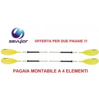 PAGAIA COMPATTA MONTABILE A 4 ELEMENTI MODELLO K-COMPACT 230 SEVYLOR  2 PEZZI! !