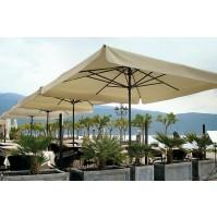 PETRARCA ALLUMINIO ombrellone Acrilico 100% colorato/bianco