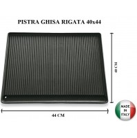 PIASTRA IN GHISA RIGATA D95 44x40 CM D95 MARCHIO BST BARBECUE  MADE IN ITALY