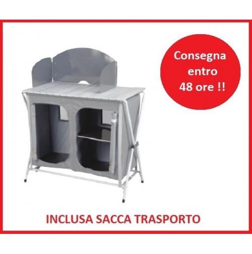 PORTA FORNELLO MOBILETTO SVELTO PER CAMPEGGIO PIANO TAPPARELLA 87x50 + BORSA