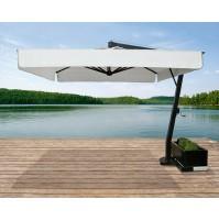 SATURNO ombrellone Acrilico 100% colorato/bianco
