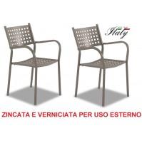 SEDIA POLTRONA PER ESTERNO ALICE FANGO / TORTORA  - OFFERTA 2 PEZZI - MADE ITALY