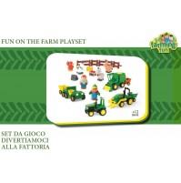 SET GIOCO DIVERTIAMO ALLA FATTORIA FUN ON THE FARM PLAYSET - BAMBINI +12 MESI