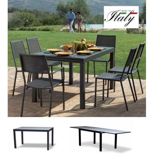 Tavoli Per Camper Allungabili.Tavolo Giardino Esterno Allungabile Sofy 140 280 X 90 X 76h Cm