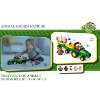 TRATTORE ANIMAL SOUNDS HAYRIDE -- SUONI ANIMALI DELLA FATTORIA- BAMBINI +18 MESI