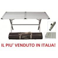 Tavolo da campeggio Genius 150x80x72h --alluminio inclusa con custodia trasporto