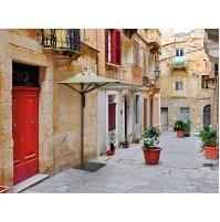 CITY ALLUMINIO mezzo ombrellone Acrilico 100% colorato/bianco