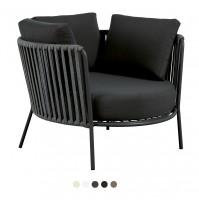 DESIREE ROPE BLACK poltrona maxi lounge