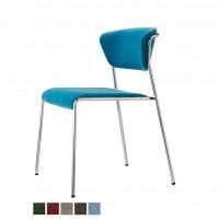 LISA sedia tubolare cromato o verniciato