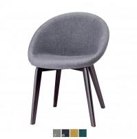 NATURAL GIULIA POP sedia con telaio in legno massello
