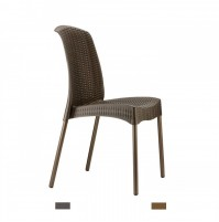 OLIMPIA  sedia in fibra di vetro gambe verniciate