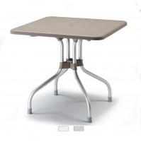 OLIMPO 80x80 tavolo piano ribaltabile anodizzato