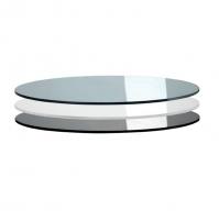 TIFFANY GLASS Ø90 piano vetro temperato trasparente